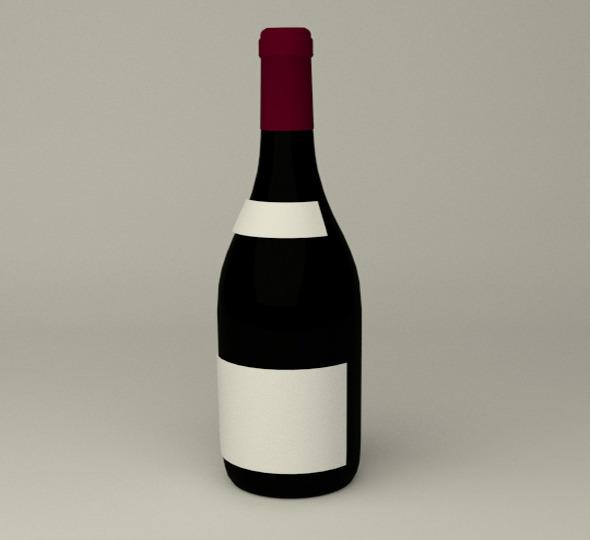 3DOcean Wein Bottle 6414254