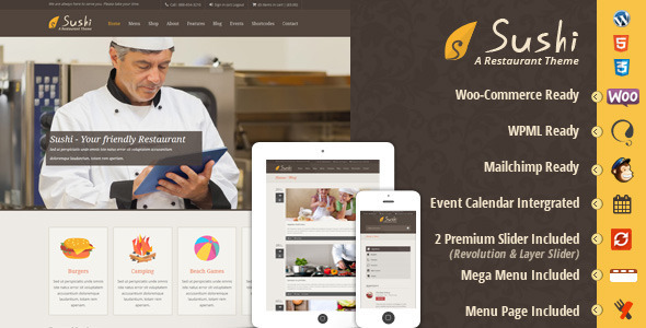 Sushi - Responsive Restaurant Theme - Food Retail