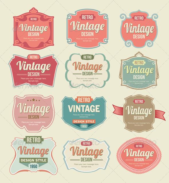 GraphicRiver Vintage Badges and Label Vector Set 6414681