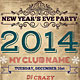 New Year Vintage Flyer - GraphicRiver Item for Sale
