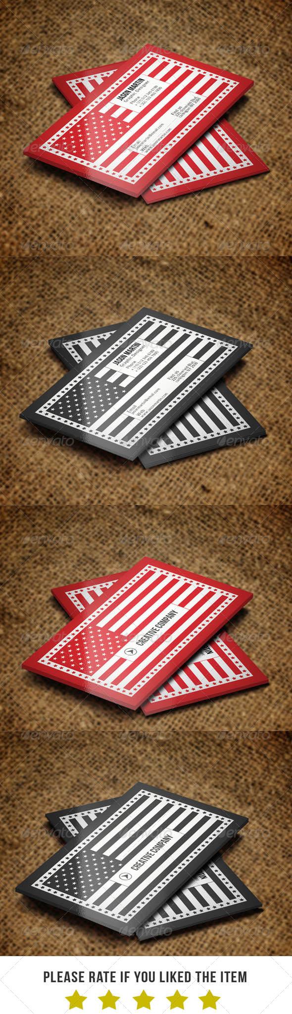GraphicRiver Creative Flag Business Card V2 6158111