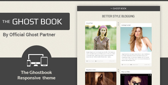 ThemeForest Ghost Book Responsive Ghost Theme 6415023