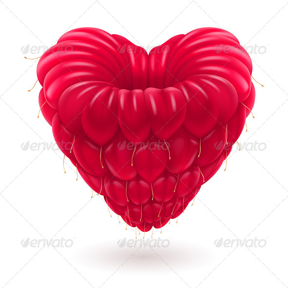 GraphicRiver Raspberry in Heart Shape 6415078
