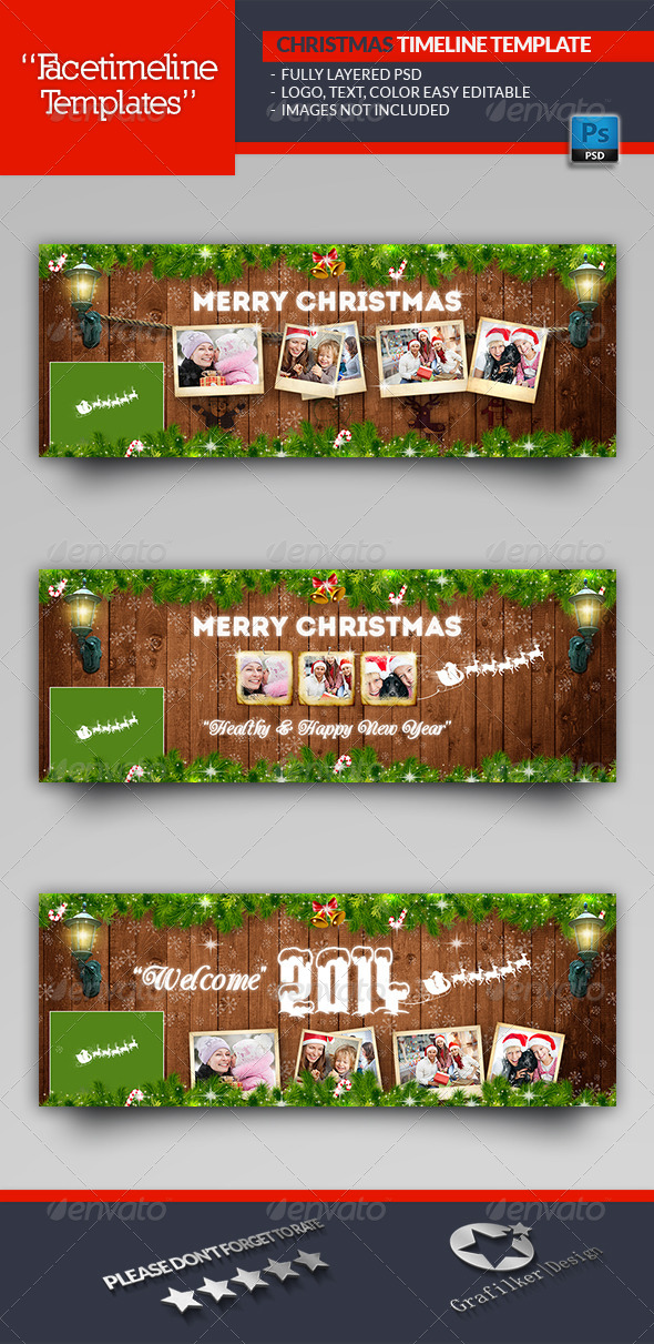 GraphicRiver Christmas Timeline Template 6415421