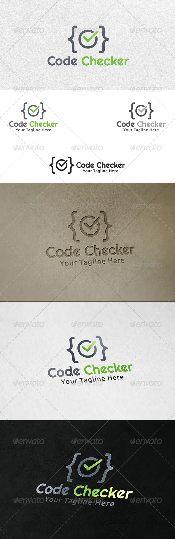 GraphicRiver Code Checker Logo Template 6415468