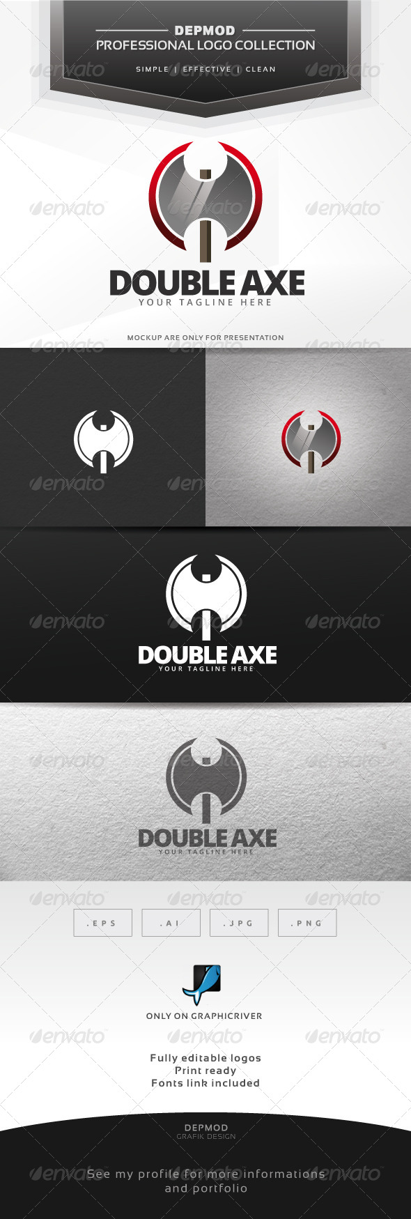 GraphicRiver Double Axe Logo 6415796