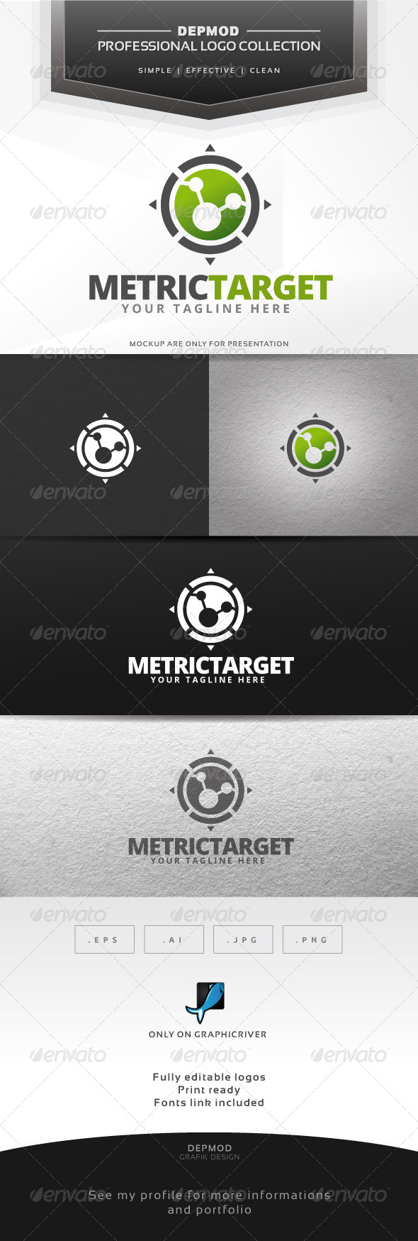 GraphicRiver Metric Target Logo 6415818