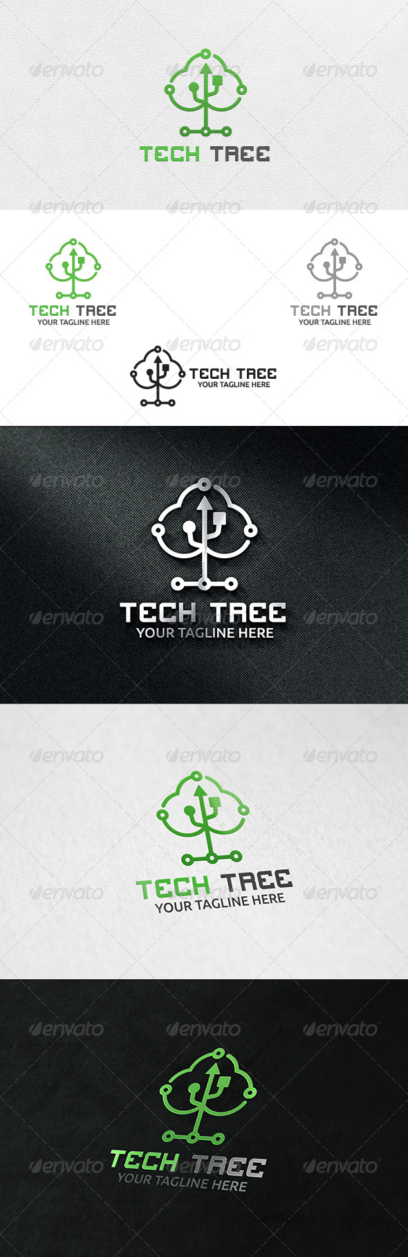 GraphicRiver Tech Tree Logo Template 6415831