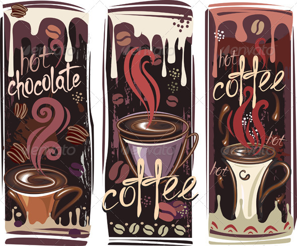GraphicRiver Banners with Coffee 6415868