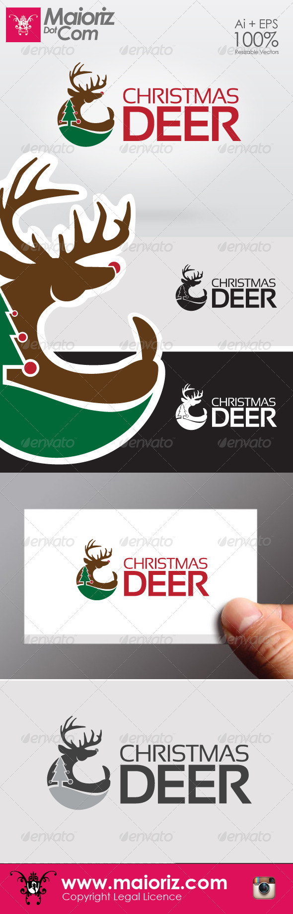 GraphicRiver Christmas Deer Logo 6415895