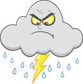 Angry Cloud With Lightning And Rain - PhotoDune Item for Sale