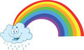 Happy Cloud Raining With Rainbow - PhotoDune Item for Sale
