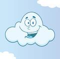 Smiling Cloud Cartoon Character - PhotoDune Item for Sale