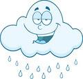 Smiling Cloud  Raining Cartoon Character - PhotoDune Item for Sale