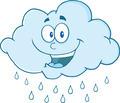 Happy Cloud Raining Cartoon Character - PhotoDune Item for Sale