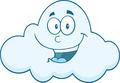 Smiling Cloud Cartoon Mascot Character - PhotoDune Item for Sale