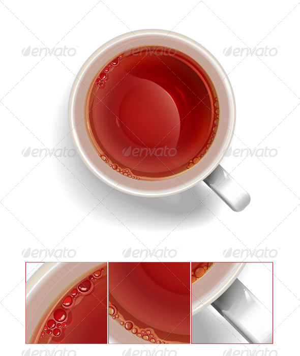 GraphicRiver Cup of Black Tea 6415921