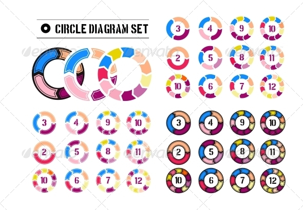 GraphicRiver Arrow Circles Diagrams 6415971