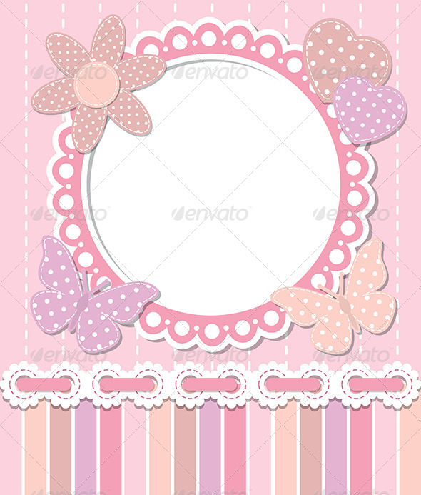 GraphicRiver Romantic Pink Frame 6416001
