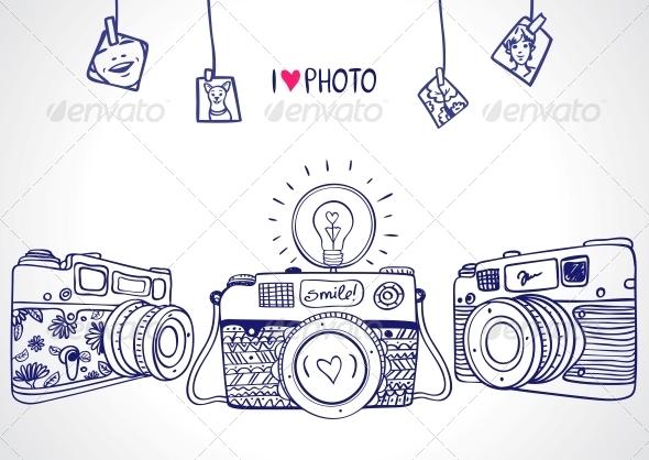 GraphicRiver Camera Silhouette 6416019