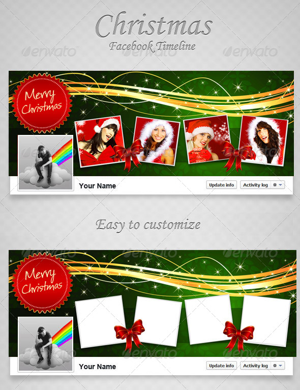 GraphicRiver Christmas FB Timeline V8 6416048