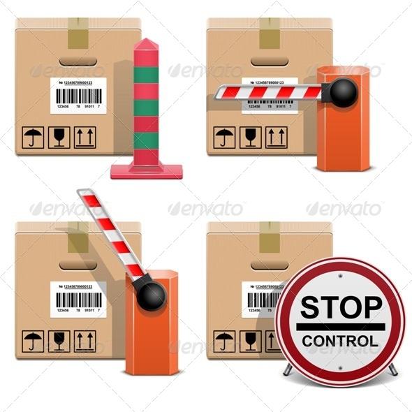 Vector Shipment Icons Set 22