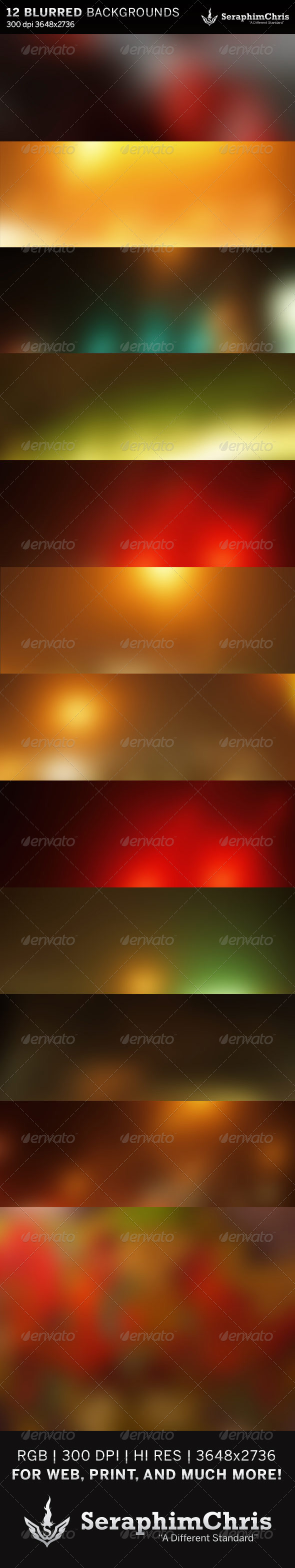 GraphicRiver 12 Abstract Blurred HD Backgrounds 6400033
