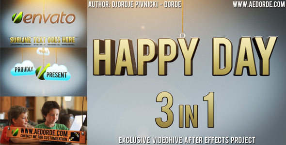 VideoHive After Effects Project - Happy Day 3in1 669066