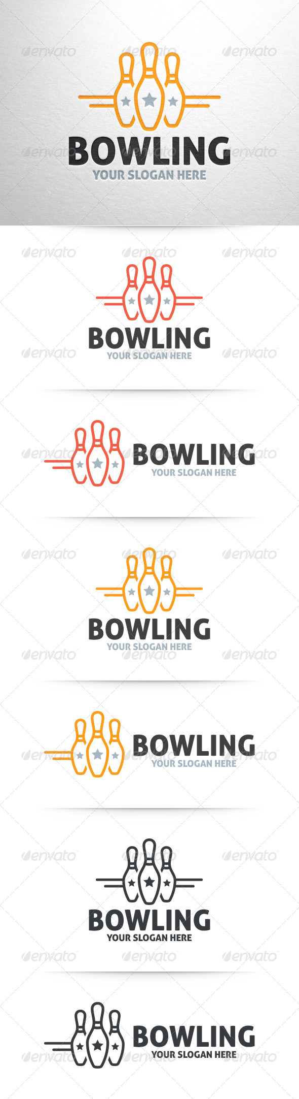 GraphicRiver Bowling Logo Template 6416103