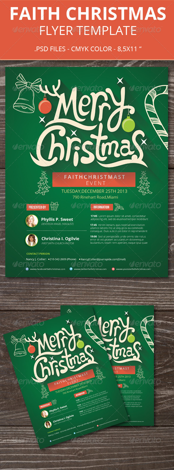 Faith Christmas Flyer - Holidays Events