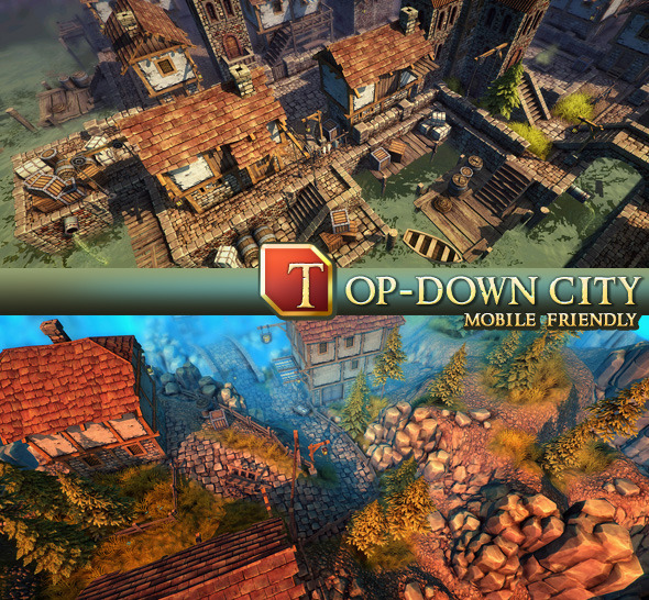 Top-Down City - 3DOcean Item for Sale