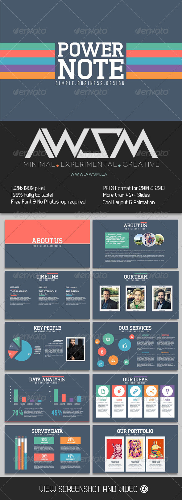 GraphicRiver PowerNote PowerPoint Presentation 6416147