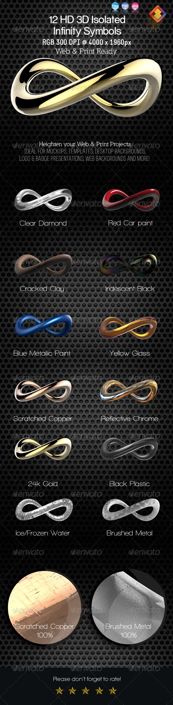 GraphicRiver 12 HD 3D Isolated Infinity Symbol 6416167