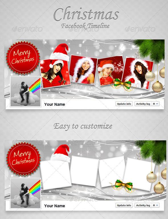 GraphicRiver Christmas FB Timeline V9 6416751