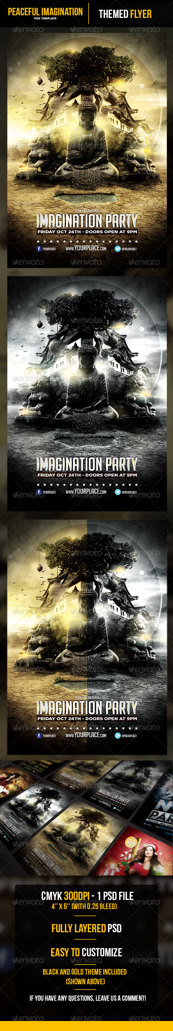 Peaceful Imagination Flyer Template - Flyers Print Templates