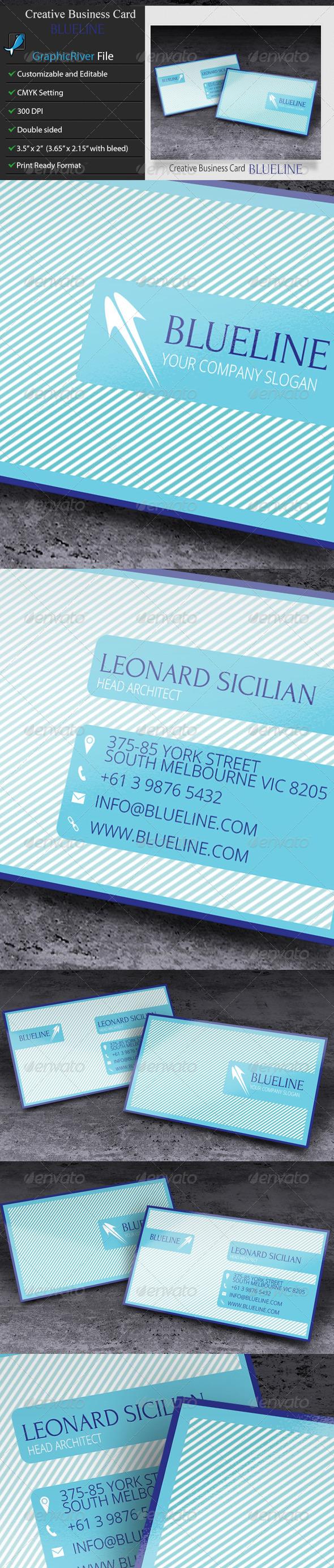 GraphicRiver Creative Business Card BlueLine 6371409