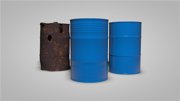 2 Types of Oil Barrels - 3DOcean Item for Sale