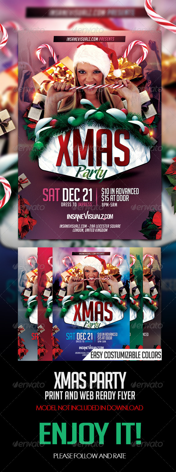 GraphicRiver Xmas Party PSD Flyer 6416943
