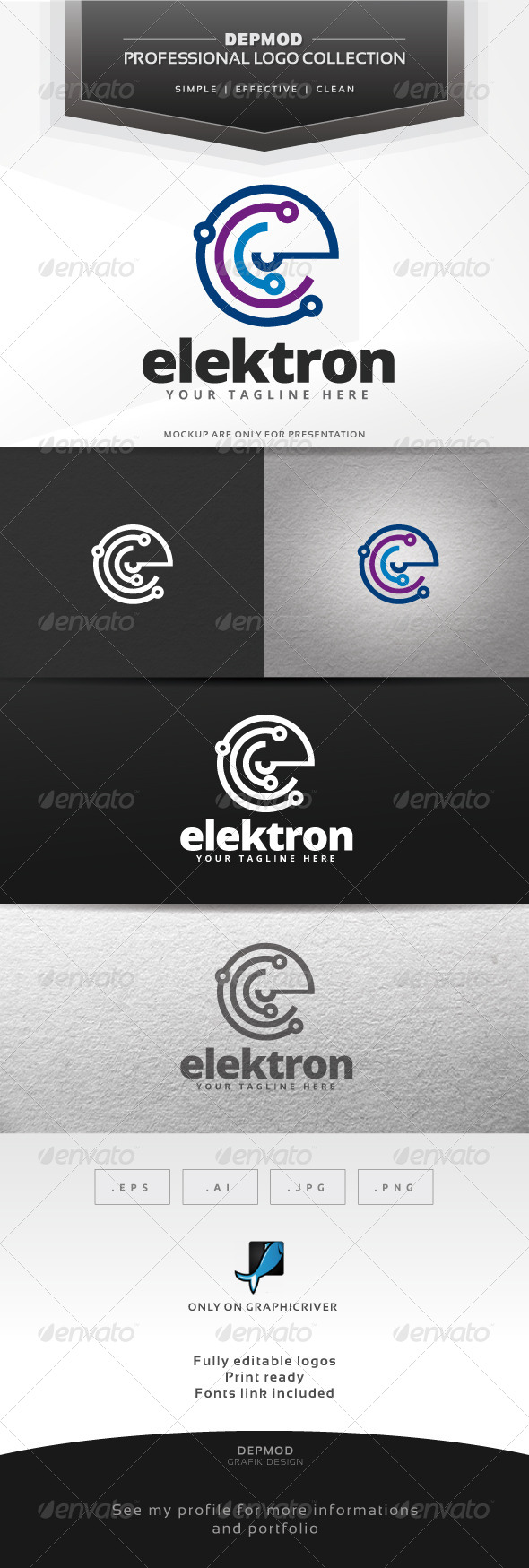 GraphicRiver Elektron Logo 6417306