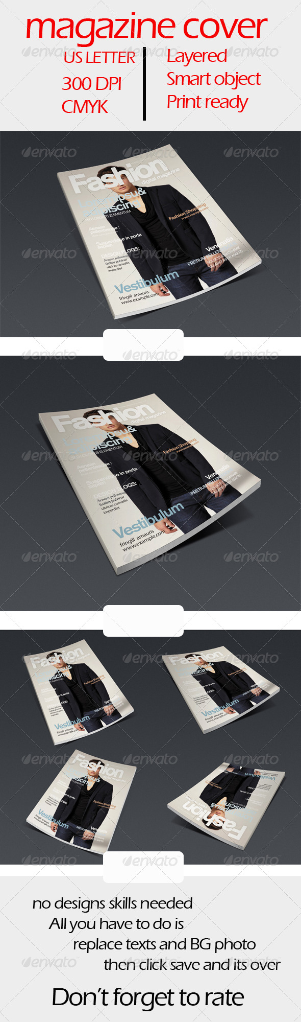 GraphicRiver Fashion Magazine Cover 6146052