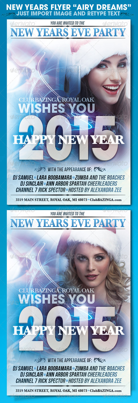 GraphicRiver New Years Eve Flyer 6382593