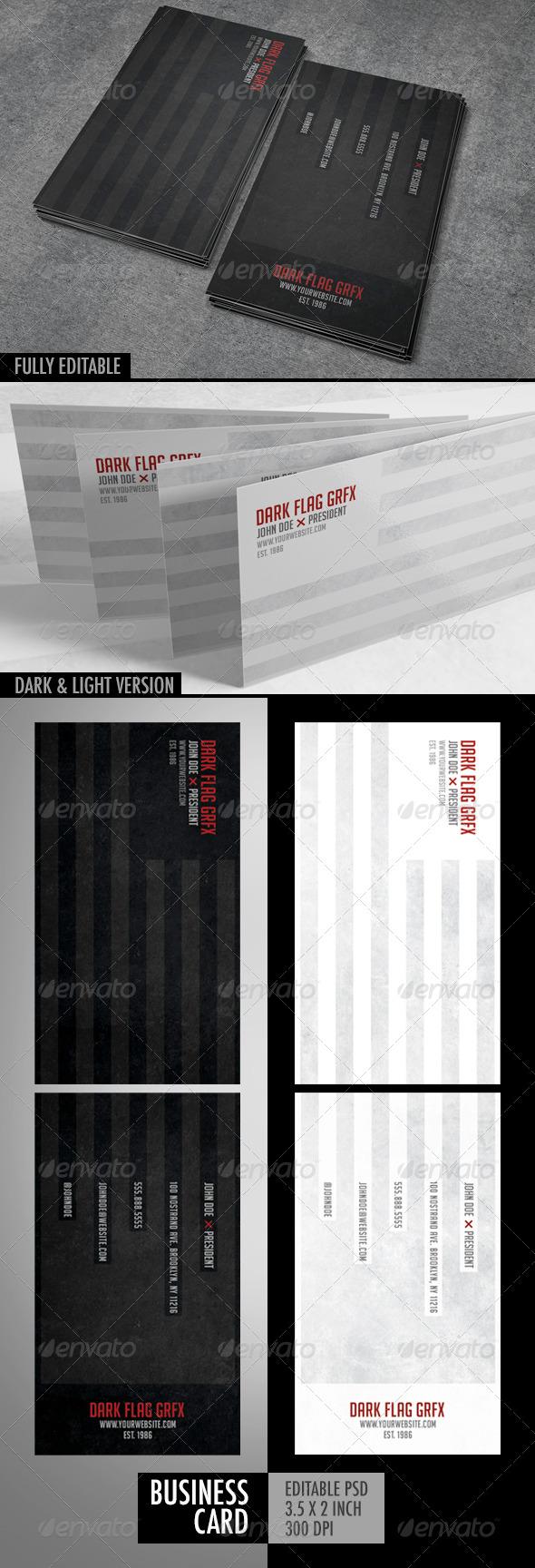GraphicRiver Dark Flag Business Card 6383208