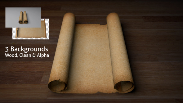 Old Scroll / Parchment (Blank) by Puk | VideoHive