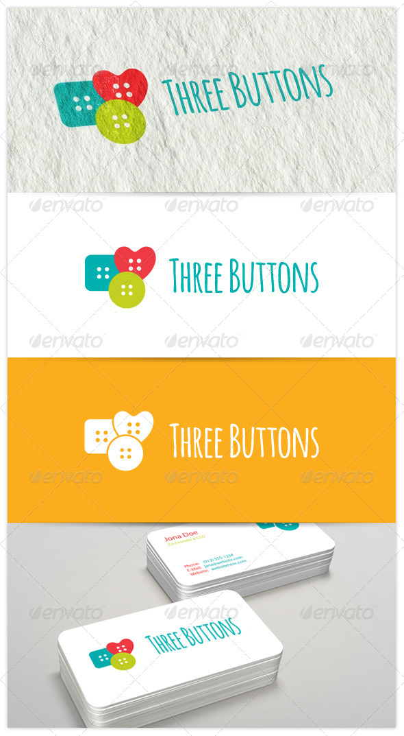 GraphicRiver Three Buttons Logo 6418162