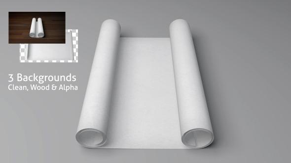 Blank Scroll Paper Opening