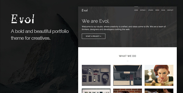 ThemeForest Evol Agency & Freelance Portfolio Theme 6418282