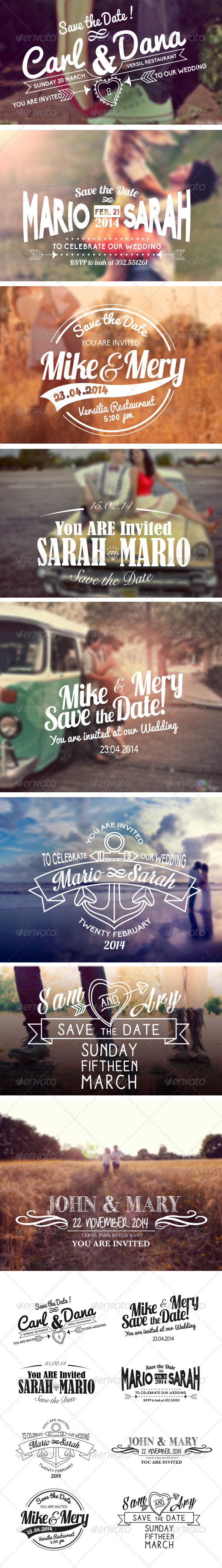 GraphicRiver Vintage Wedding Label Vol.1 6418307