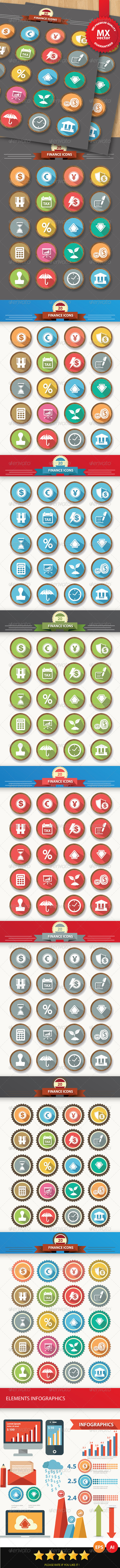 GraphicRiver Finance Concept Icons 6418308