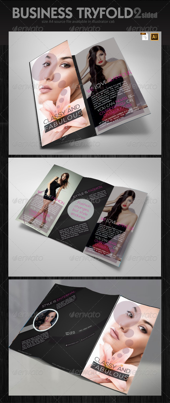 GraphicRiver Fashion Industry Brochure Design 6418634