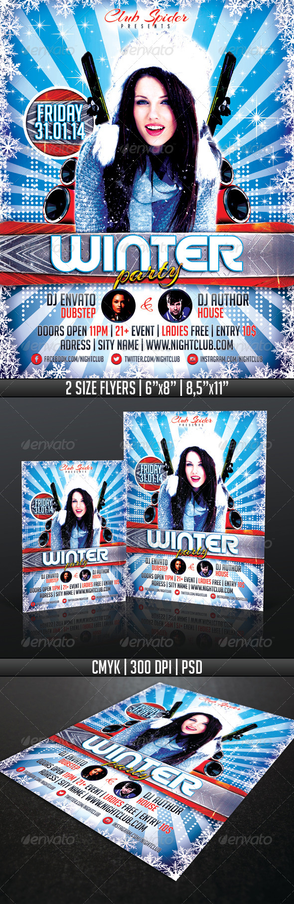 GraphicRiver Winter Party Flyer Template 6418645